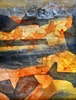 Mixed media watercolors and collage by New Mexico painter Lynda Burch