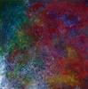 Abstract mixed media paintings by Arizona artist Max McConkey