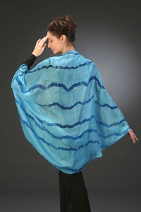 Silk shibori striped float