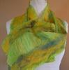 Nuno felted Silk and Merino Wool Scarf