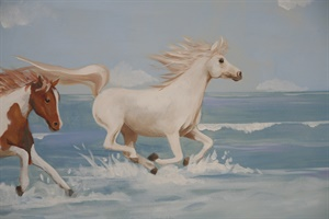 Detail of horse mural