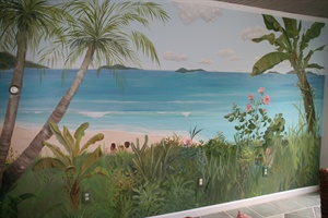 Sunroom beach scene