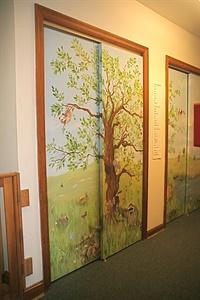 Closet door mural