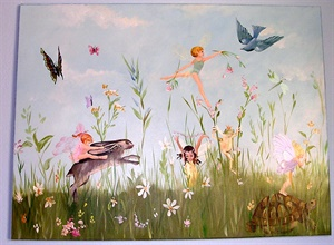 Fairies on canvas