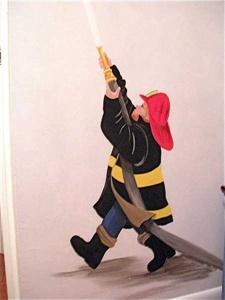 Firefighter mural
