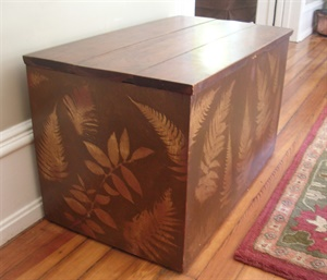 Painted fern chest