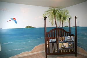 """Pirate"" Nursery Mural"