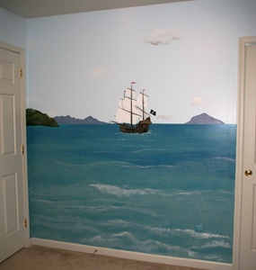 """Pirate"" mural"