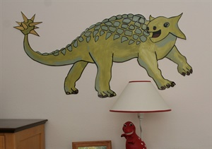 """Ankylosaurus"" with extra golden spikes on his tail"
