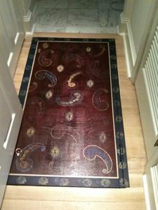 Painted paisley floor