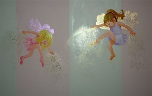 Fairies sprinkle their magic over Grace's changing table