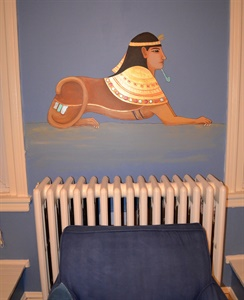 A Sphinx on a boy's wall