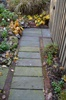 Faux-aged flagstone concrete walkway - after