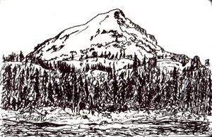 Mount Watson from Washington Lake