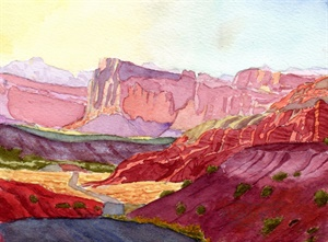 Capitol Reef Scenic Drive, Sunset