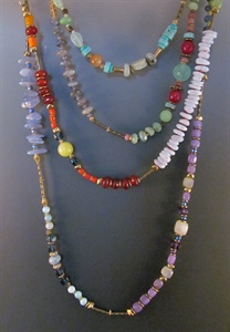 Gemstone Lanyard Necklaces and Gemstone Wrap Bracelets