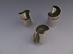 Sterling Silver Architectural Wrap Rings