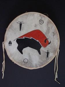 Buffalo with Petroglyphs