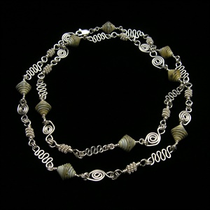 """36"""" Convertable Sterling Necklace"""