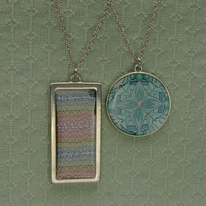Pewter Pendants with Polymer Clay Inserts