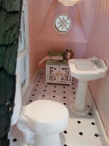 Powder Room at Rose Cottage