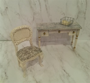 French Desk/Vanity with Chair