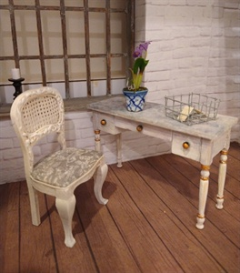 Miniature Writing Desk and Chair