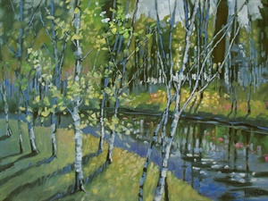 32-18  Blue River Birches
