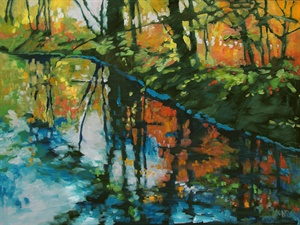 112-18  Riverbank Reflections