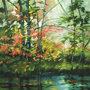 156-18  Summer Riverbank