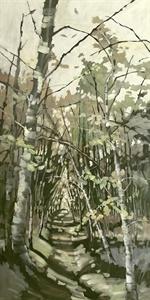 86-19  Birches Along A Path