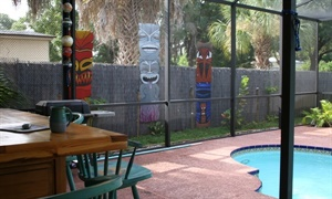 Tikis on fence