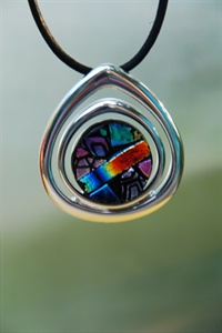 Dichroic Multi Colored Pendant