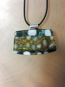 Multi Colored Pebble Pendant