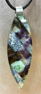 Purple and Metallic Pendant