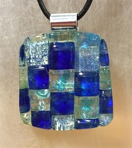 Blue Checkered Pendant