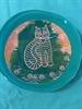 Folk Art Cat Plate