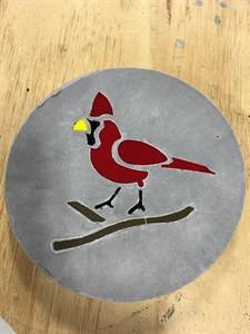 Cardinal Stepping Stone