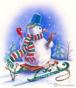 CH 005 Snowman on Sled