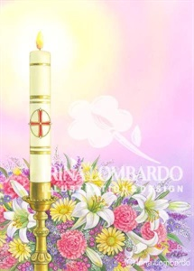 EA 007 Paschal Candle with Flowers