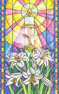 EA 008 Stain Glass Paschal Candle