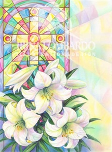 EA 009 Stain Glass Lilies