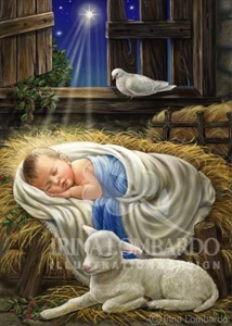 CH 065 Baby Jesus Blue and White