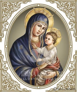 CH 011 Madonna in Oval