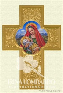 CH 018 Madonna and Child on Golden Cross
