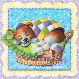 BD 019 Puppy in a Basket