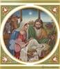 CH 021 Nativity with Corner Ornaments
