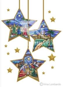 CH 023 Three Hanging Star Ornaments