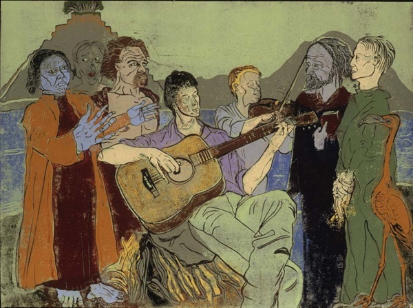 Musicians on the beach-Purgatory