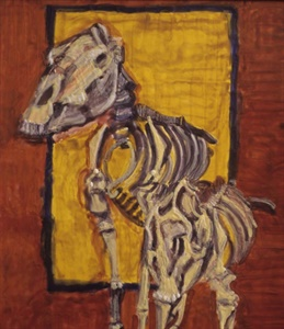 zebra and warthog, 2002